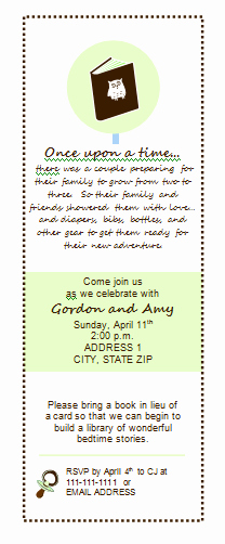 Book themed Baby Shower Invitation New Pink Tea Baby Shower Owls & Books Part I