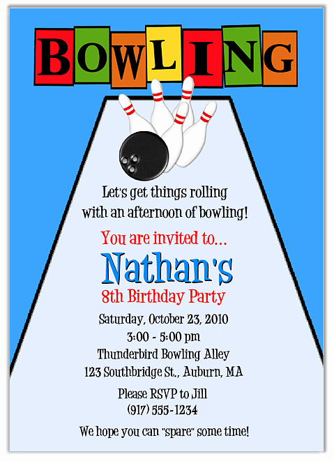 Bowling Birthday Party Invitation Unique Free Free Printable Bowling Party Invitation Templates
