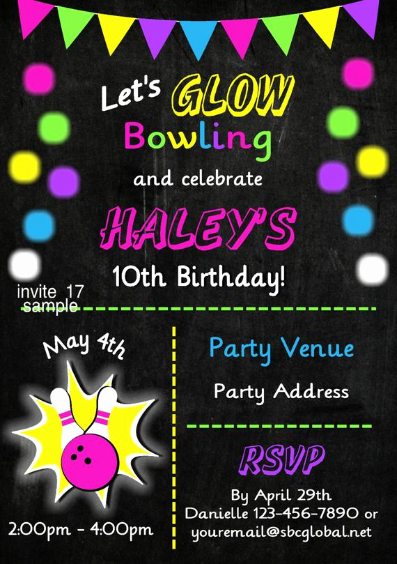 Bowling Birthday Party Invitation Wording Awesome Items Similar to Bowling Party Invitation Girls Bowling