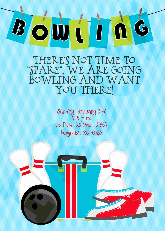 Bowling Birthday Party Invitation Wording Elegant Bowling Party Bowling Party Printables Bowling Birthday
