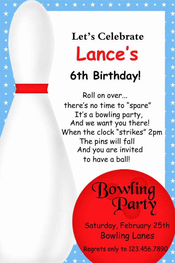 Bowling Birthday Party Invitation Wording Inspirational Great Bowling Invite Love the Wording