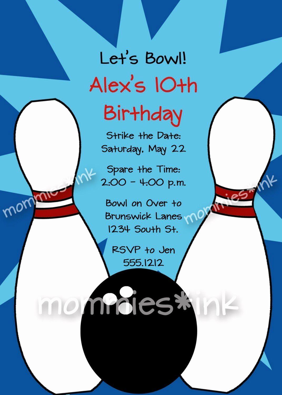 Bowling Birthday Party Invitation Wording Lovely Einladung Bowling Zum Ausdrucken