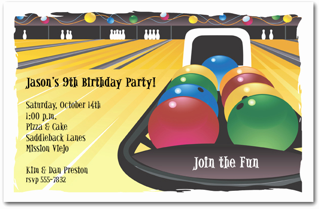 Bowling Birthday Party Invitation Wording Luxury Bowling Invitation Bowling Birthday Invitation
