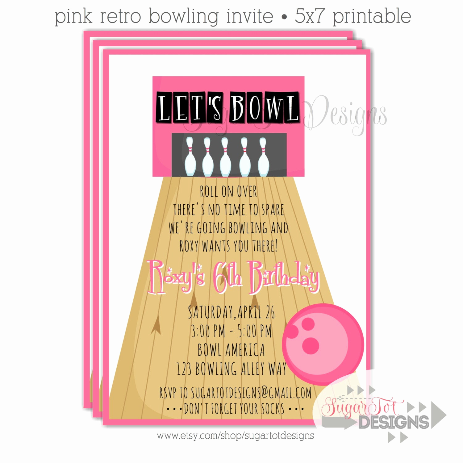 Bowling Birthday Party Invitation Wording Unique Bowling Party Invitation Retro Bowling Party by