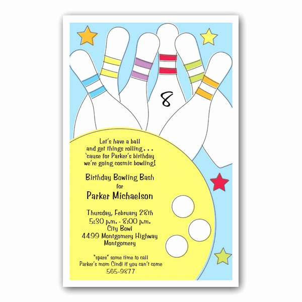 Bowling Birthday Party Invitation Wording Unique Bowling Party Invitations Clearance