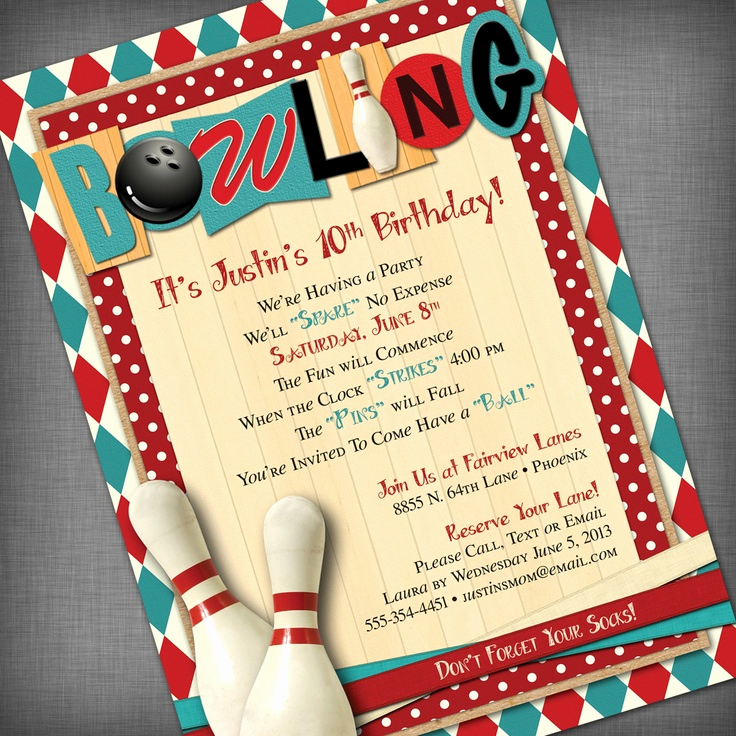 Bowling Birthday Party Invitation Wording Unique top 86 Ideas About Bowling Party Tyler 11th On Pinterest