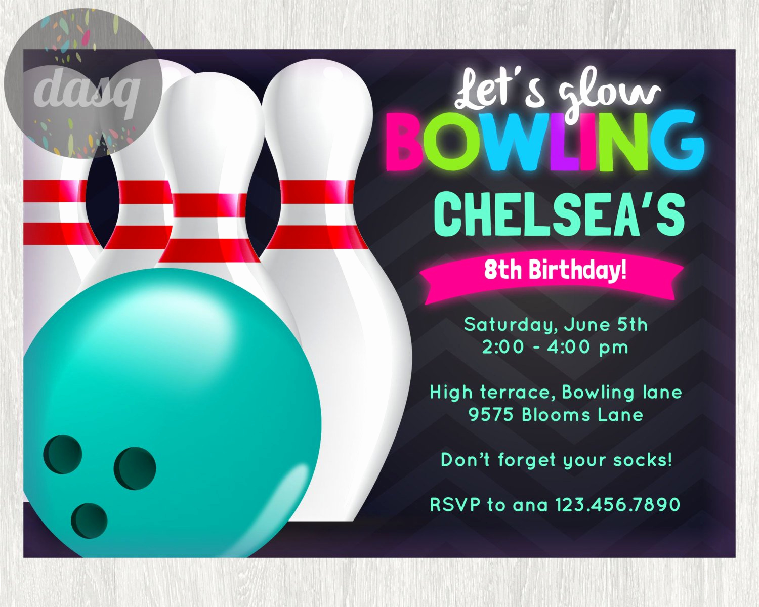 Bowling Invitation Template Free Best Of Birthday Bowling Party Invitations