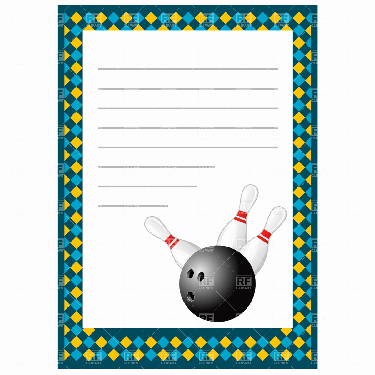 Bowling Invitation Template Free Elegant Cardit