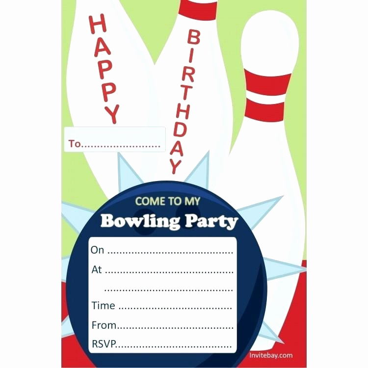 Bowling Party Invitation Template Awesome Bowling Party Invitation Templates Free