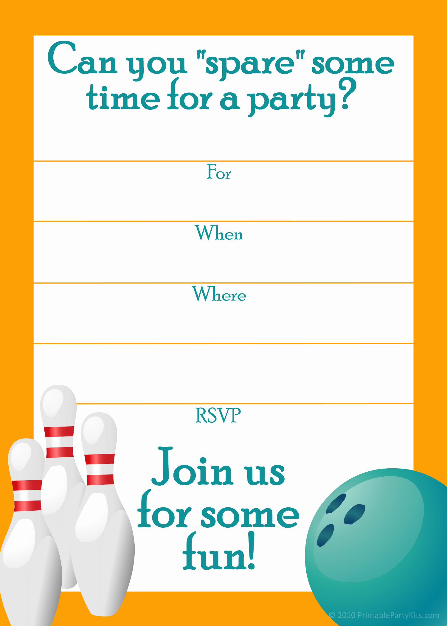 Bowling Party Invitation Template Awesome Free Printable Sports Birthday Party Invitations Templates