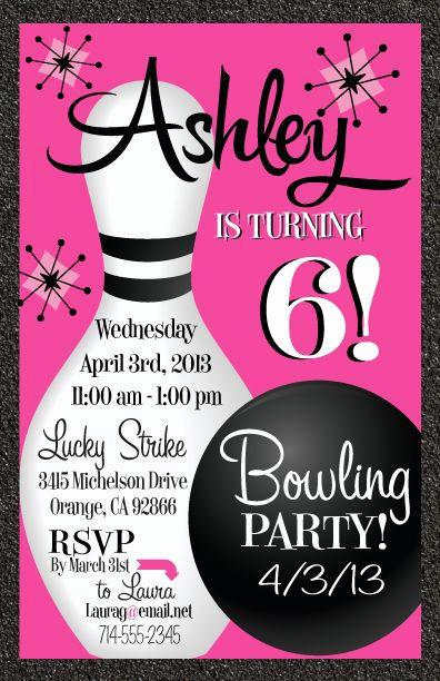 Bowling Party Invitation Template Elegant Best 20 Bowling Birthday Invitations Ideas On Pinterest