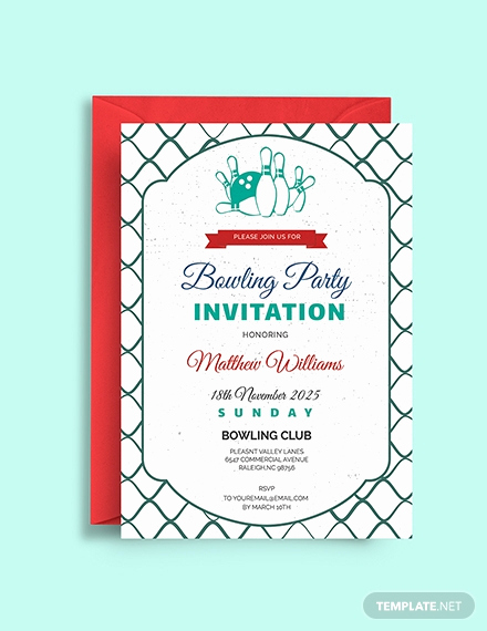 Bowling Party Invitation Template Elegant Free Bowling Birthday Invitation Template Download 508