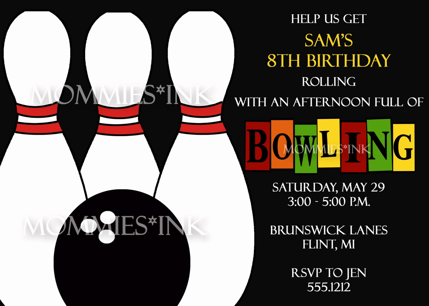 Bowling Party Invitation Template Free Awesome Bowling Invitation Templates