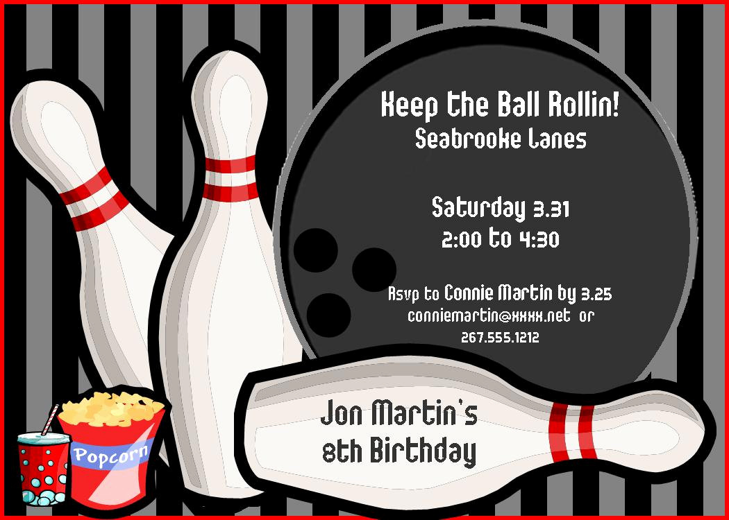 Bowling Party Invitation Template Free Awesome Free Birthday Invitation Templates for Adults