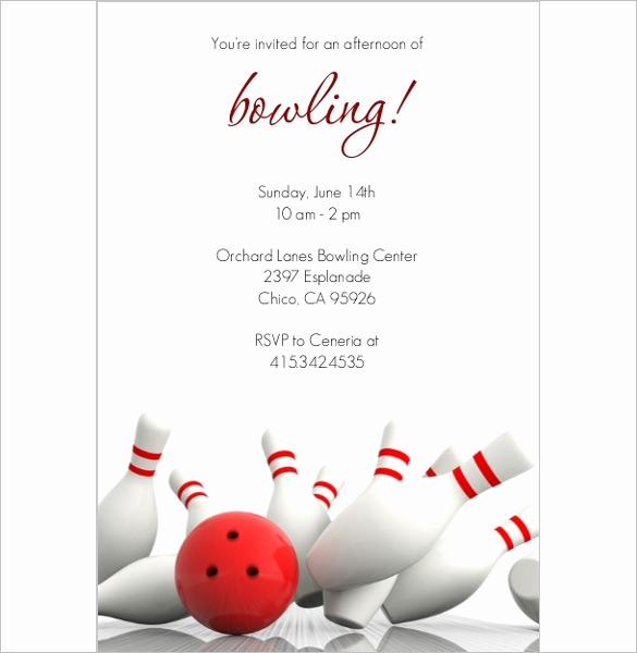Bowling Party Invitation Template Free Beautiful 24 Outstanding Bowling Invitation Templates & Designs