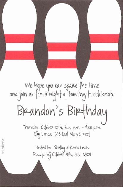 Bowling Party Invitation Template Free Beautiful Best 25 Bowling Party Invitations Ideas On Pinterest