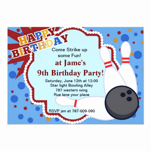 Bowling Party Invitation Template Free Best Of Bowling Birthday Party Invitation