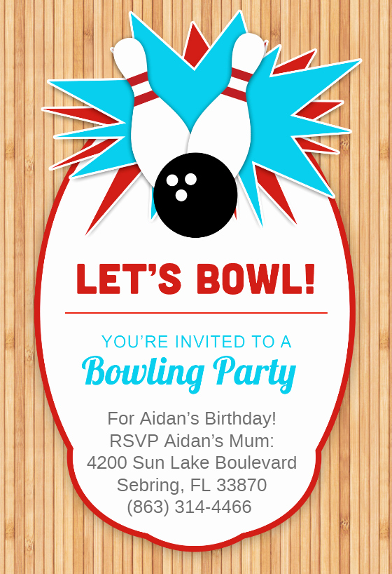 Bowling Party Invitation Template Free Elegant Bowling Party Invitation Template Free
