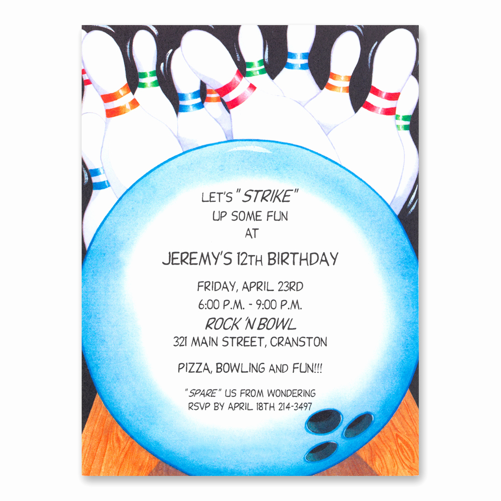 Bowling Party Invitation Template Free Fresh Bowling Party Invitations Templates Ideas Bowling Party