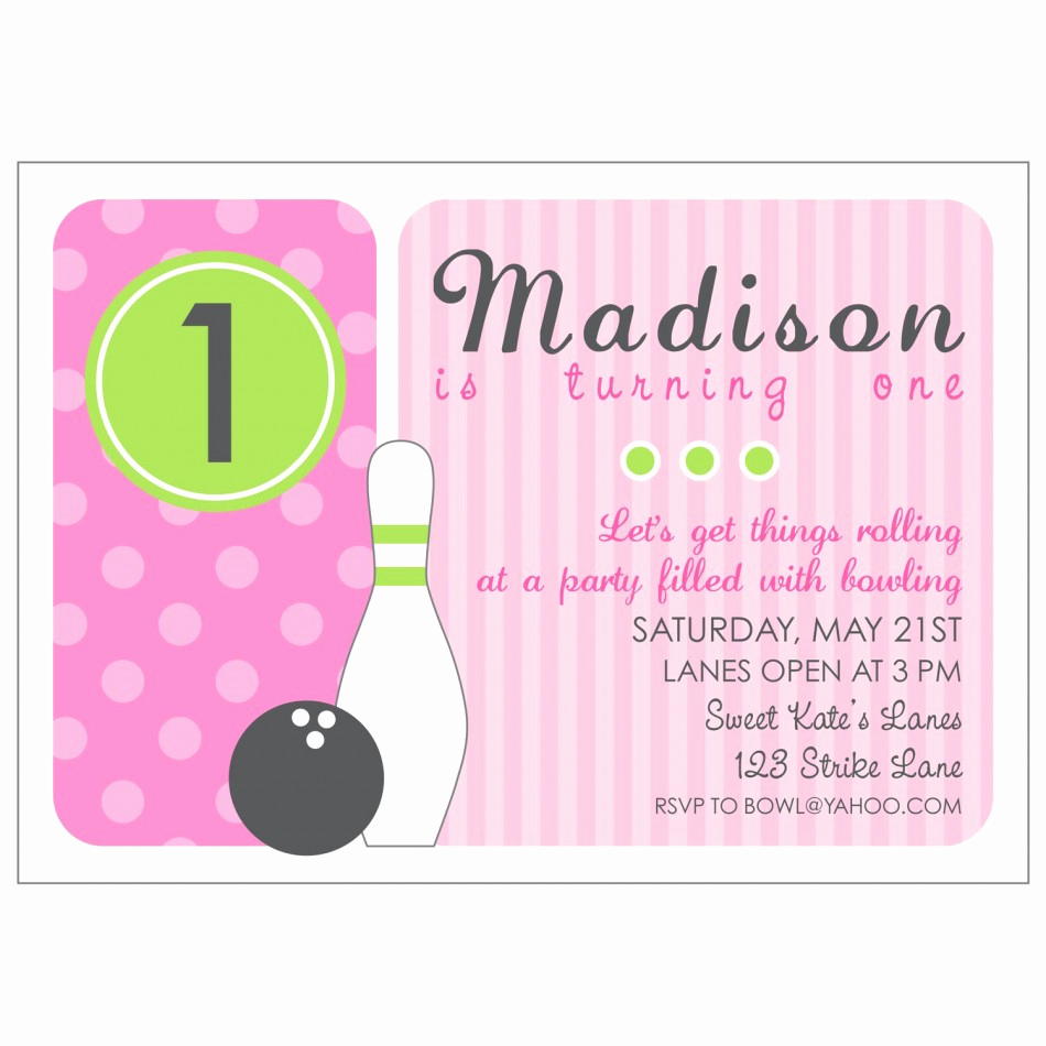 Bowling Party Invitation Template Free New Bowling Invitations Printable Free
