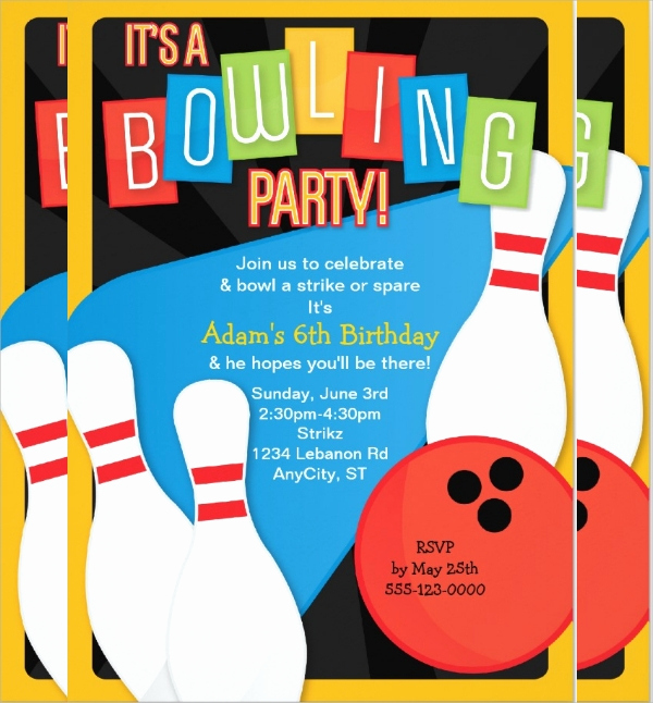 Bowling Party Invitation Template Free Unique 16 Bowling Invitation Templates Psd Vector Eps