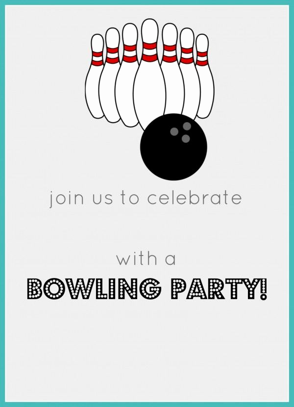 Bowling Party Invitation Template Free Unique Best 25 Bowling Birthday Invitations Ideas On Pinterest