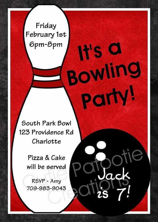 Bowling Party Invitation Templates Awesome 8 Best Emma Party Images On Pinterest
