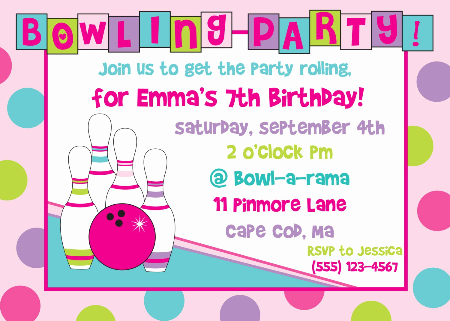 Bowling Party Invitation Templates Beautiful Printable Bowling Birthday Party Invitations