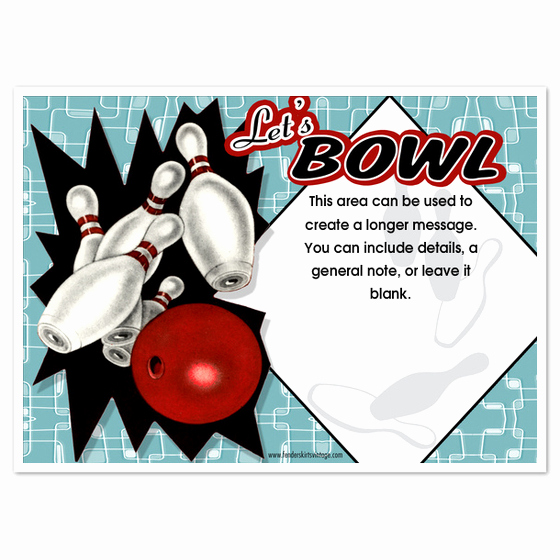 Bowling Party Invitation Templates Elegant Retro Bowling Party Invitations Invitations & Cards On