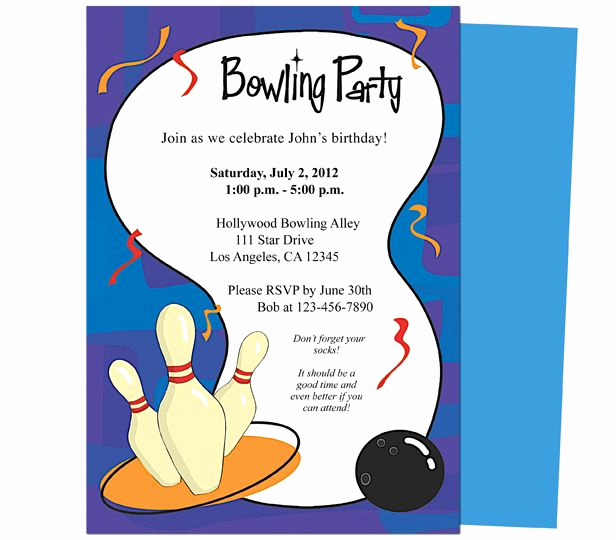 Bowling Party Invitation Templates Free Awesome It S A Bowling Birthday Invitations Template Printable