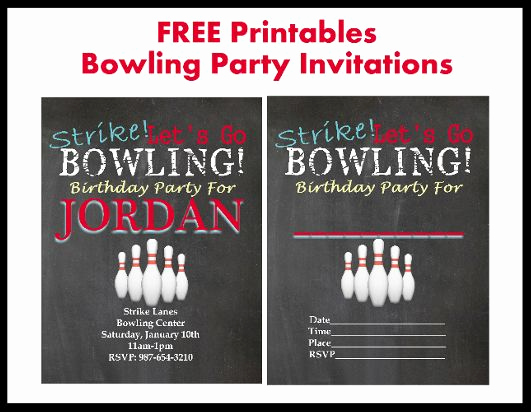 Bowling Party Invitation Templates Free Beautiful 17 Best Bowling Printables Images On Pinterest