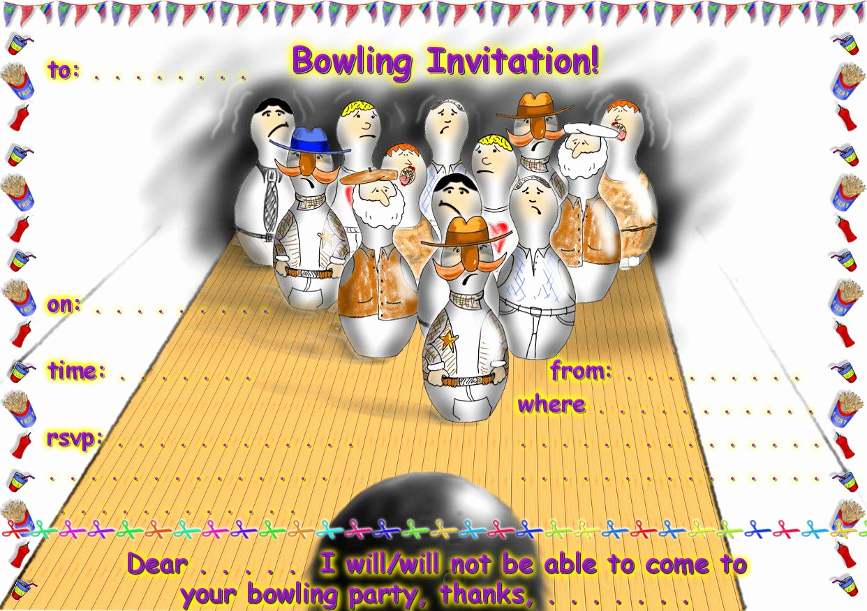 Bowling Party Invitation Templates Free Lovely Einladung Bowling Lustig