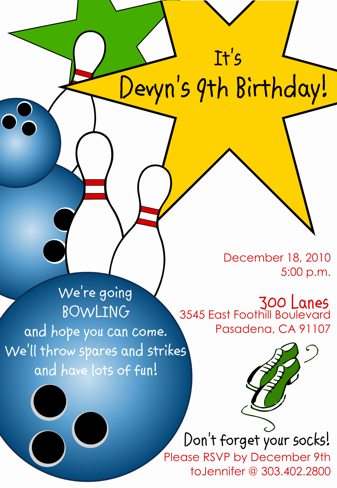 Bowling Party Invitation Templates Free Unique Free Printable Bowling Birthday Invitations