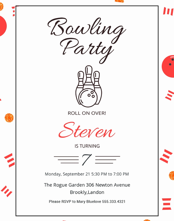 Bowling Party Invitation Templates Lovely 24 Outstanding Bowling Invitation Templates & Designs