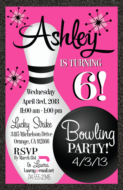 Bowling Party Invitation Templates Luxury Free Printable Bowling Birthday Invitations
