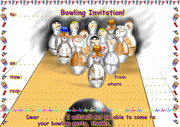 Bowling Party Invitation Templates New 24 Outstanding Bowling Invitation Templates & Designs