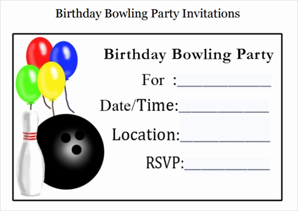 Bowling Party Invitation Templates New Sample Bowling Invitation Template 9 Free Documents