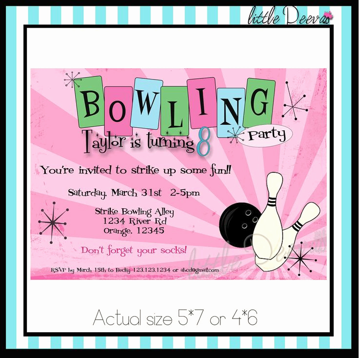 Bowling Party Invitation Templates Unique Best 25 Bowling Party Invitations Ideas On Pinterest