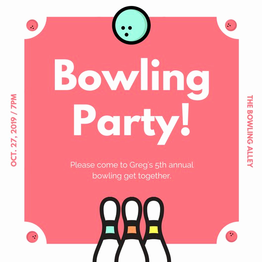 Bowling Party Invitation Templates Unique Customize 95 Bowling Invitation Templates Online Canva