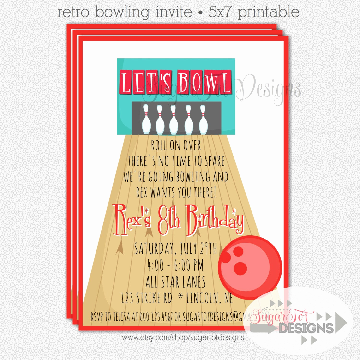 Bowling Party Invitation Wording Beautiful Bowling Party Invitation Retro Bowling Party by