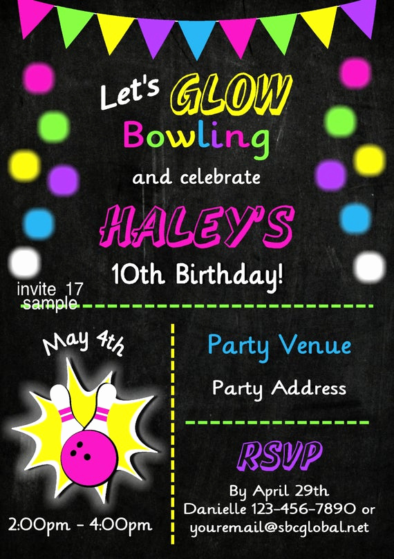 Bowling Party Invitation Wording Luxury Items Similar to Bowling Party Invitation Girls Bowling