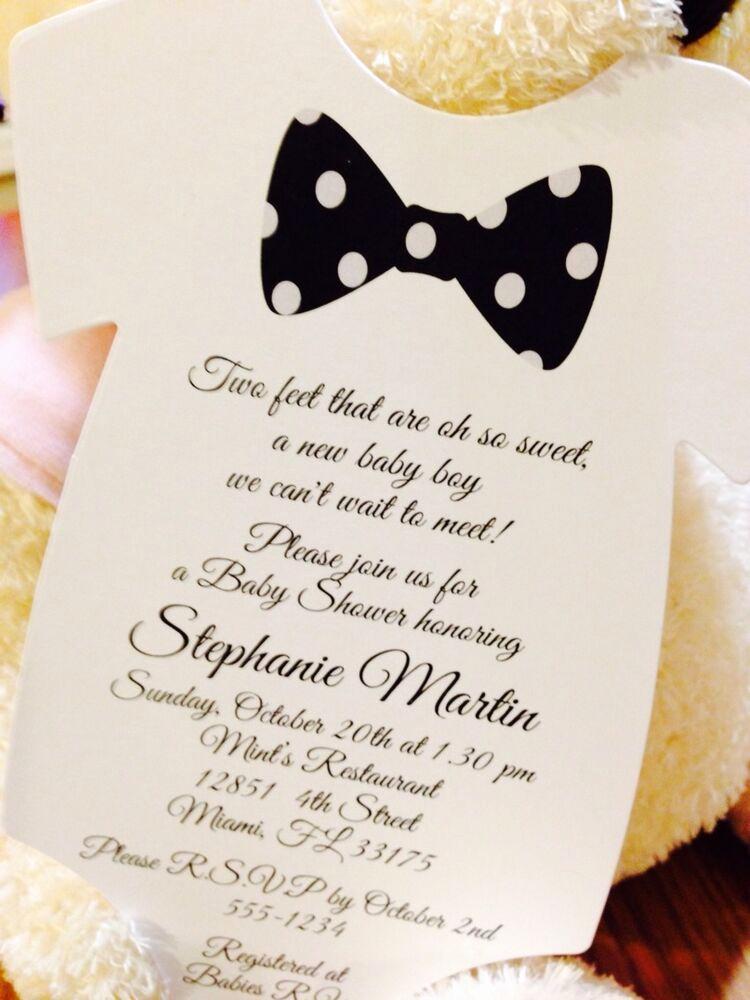 Boy Baby Shower Invitation Best Of Baby Boy Black Bow Tie Esie Baby Shower Invitation All