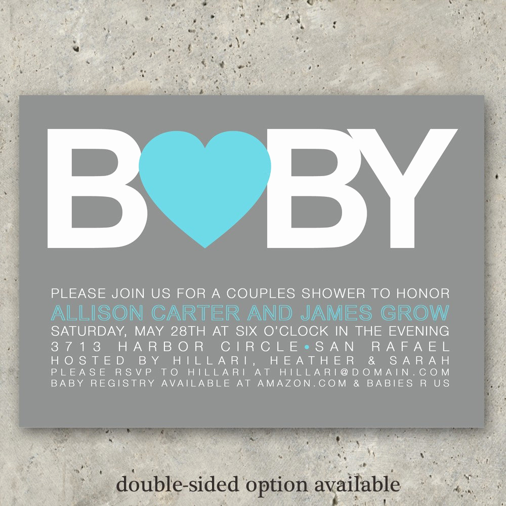 Boy Baby Shower Invitation Best Of Baby Shower Invitations Boy or Girl Big Baby by Minkcards