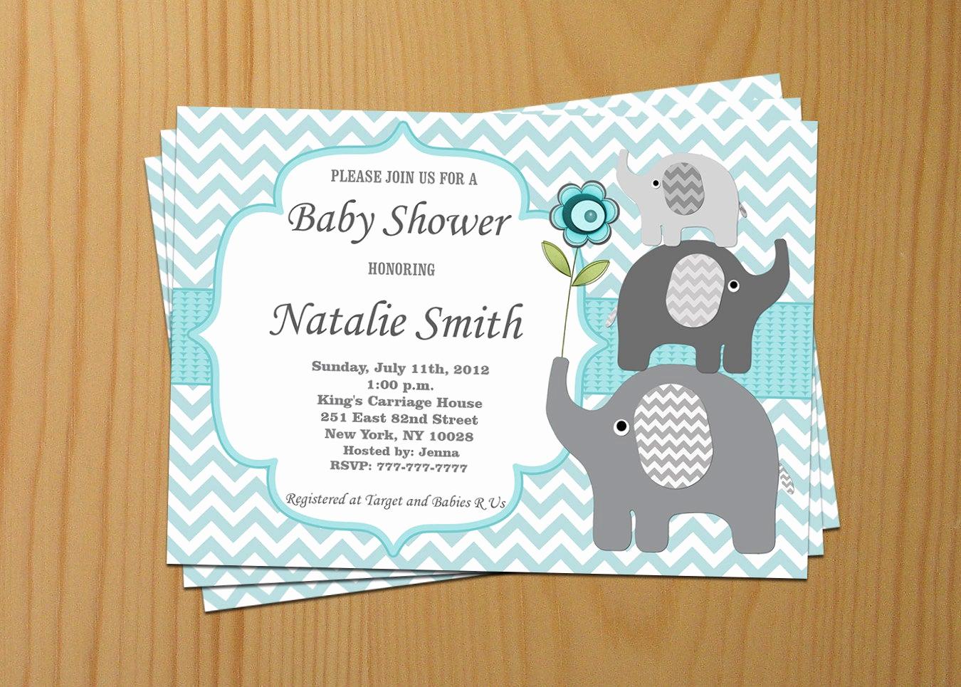 Boy Baby Shower Invitation Fresh Baby Shower Invitation Boy Baby Shower Invitation Elephant