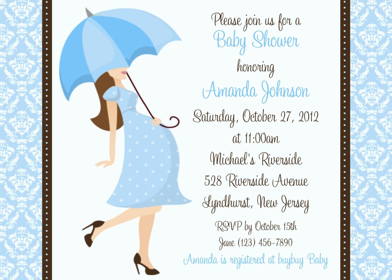 Boy Baby Shower Invitation Fresh Damask Baby Shower Boy Invitation Personalized Custom Boy