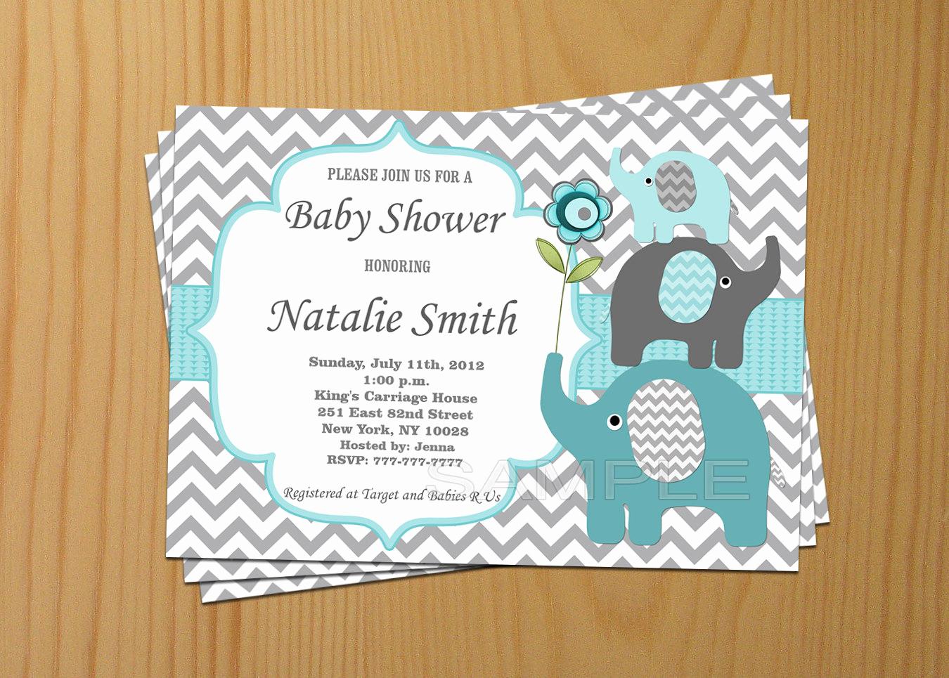 Boy Baby Shower Invitation Lovely Baby Shower Invitation Boy Elephant Baby Shower Invitation