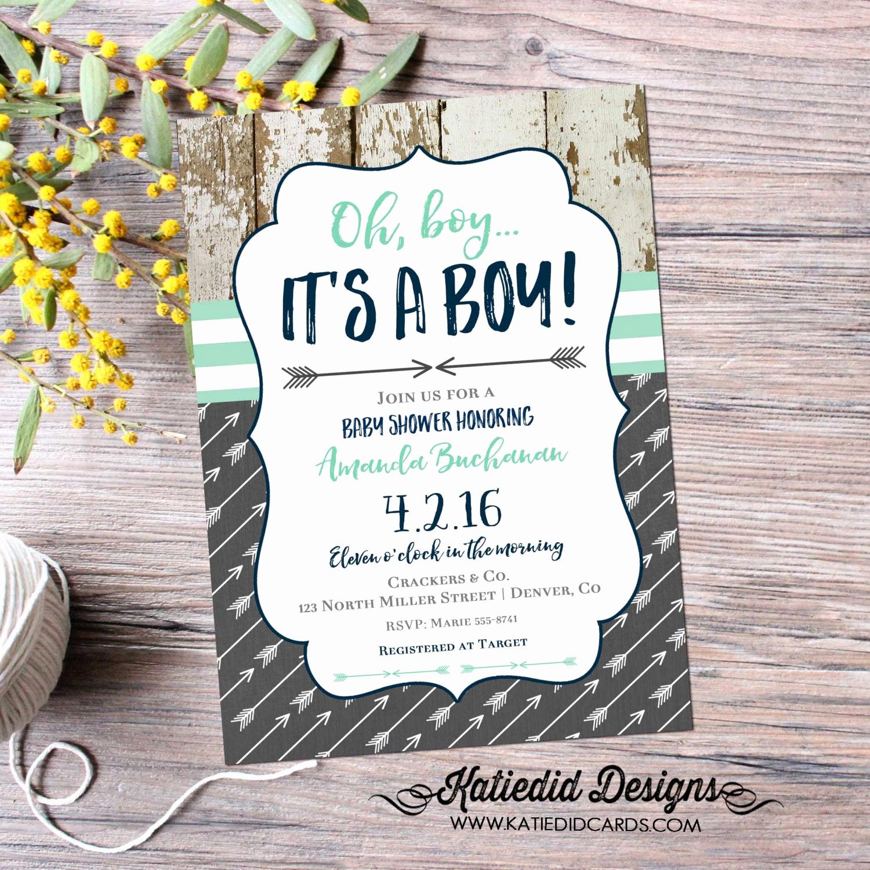 Boy Baby Shower Invitation Lovely Tribal Baby Shower Invitation Boho Chic Oh Boy Arrow Sprinkle