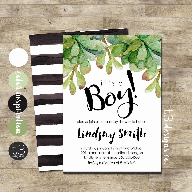 Boy Baby Shower Invitation Luxury Boy Baby Shower Invitation Modern Baby Shower Invite
