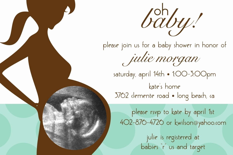Boy Baby Shower Invitation Luxury Oh Baby Ultrasound Custom Baby Shower Invitation Boy