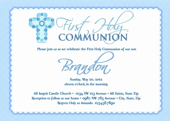 Boy First Communion Invitation Awesome Boy S First Munion Invitations Munion Invitations